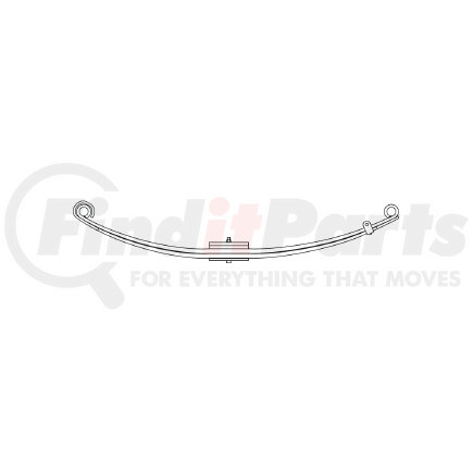46-1280 by TRIANGLE SUSPENSION SYSTEMS CO. - Freightliner, F Spr, Lvs:2PD/2/PD FT; OEM# A1613412001; SE Length: 26-1/8; LE Length: 29; SE End: RNK; LE End: RNK; Grading 2/558, 2/788, 1/323