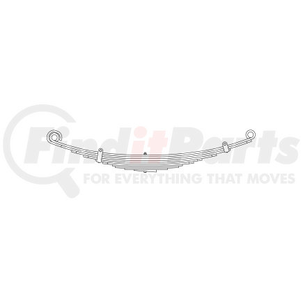 43-686 by TRIANGLE SUSPENSION SYSTEMS CO. - Freightliner, F Spr, Lvs:9/WG ; OEM# A1616384000; SE Length: 25; LE Length: 29; SE End: RNK; LE End: RNK; Grading 4/499, 2/447, 3/360