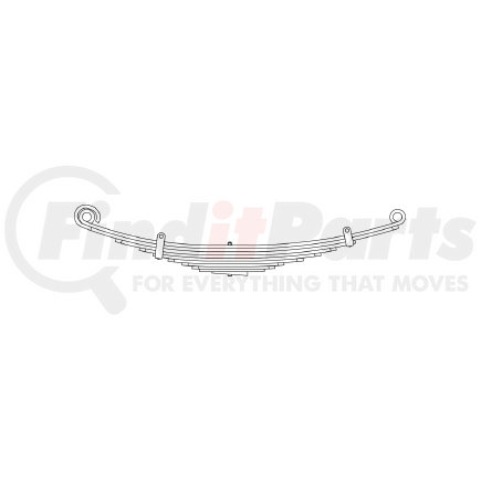 43-688 by TRIANGLE SUSPENSION SYSTEMS CO. - Freightliner, F Spr, Lvs:8/WG ; OEM# A1616389000; SE Length: 25; LE Length: 29; SE End: RNK; LE End: RNK; Grading 4/447, 2/423, 3/360