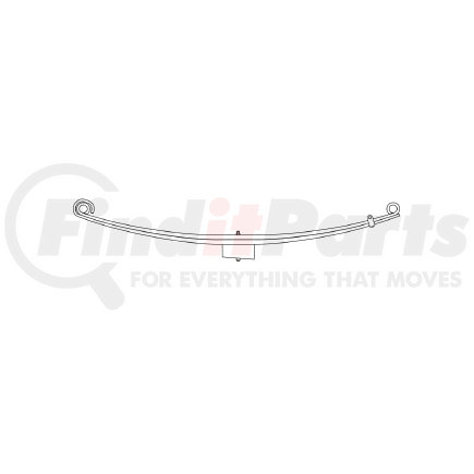 43-680 by TRIANGLE SUSPENSION SYSTEMS CO. - Freightliner, F Spr, Lvs:2/4PD FT; OEM# A1616399000; SE Length: 30; LE Length: 30; SE End: RNK; LE End: RNK; Grading 2/887, 4/558