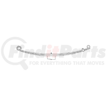 43-692 by TRIANGLE SUSPENSION SYSTEMS CO. - Freightliner, F Spr, Lvs:2/4PD/WG FT; OEM# A1616401000; SE Length: 25; LE Length: 29; SE End: RNK; LE End: RNK; Grading 2/840, 4/527