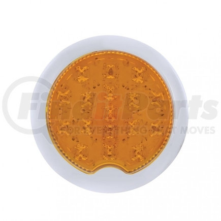 CPL3911A by UNITED PACIFIC - 17 Amber LED Vintage Round P/T/C Light With Flush Mount Pad For 1939 Chevy Car