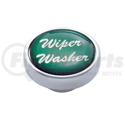 "23245 by UNITED PACIFIC - ""Wiper/Washer"" Dash Knob - Green Glossy Sticker"
