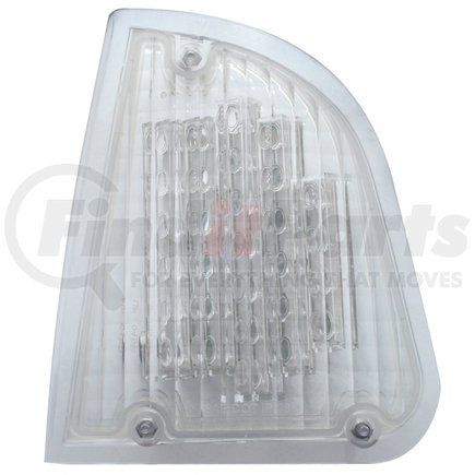 39338 by UNITED PACIFIC - 29 LED Kenworth Turn Signal Light (Driver) - Amber LED/Clear Lens