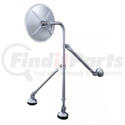 """60036 by UNITED PACIFIC - 8 1/2"""" Stainless Tripod Fender Mirror"""