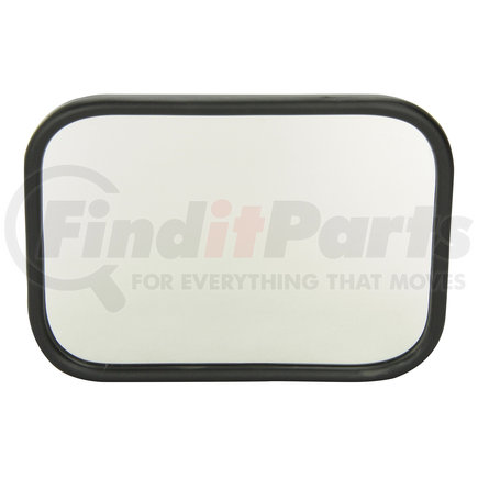 12072 by GROTE - Rolled-Rim Truck Mirror with Ball Swivel, Black
