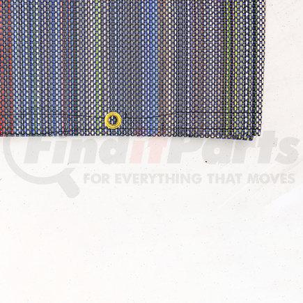 """1801743 by SHUR-CO - Multi-Colored PVC Mesh Tarp, 7'6"""" × 14'"""