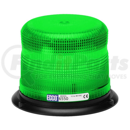 6550G by ECCO - SAE Class II Strobe Green Beacon