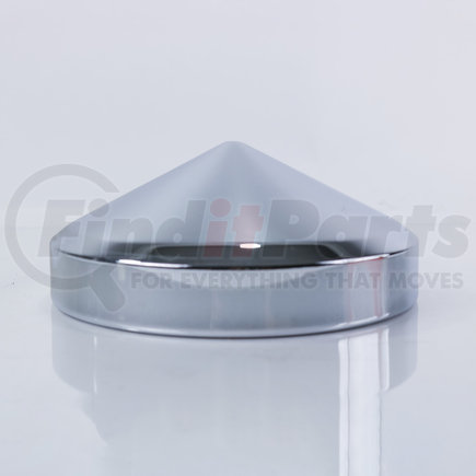 """CR500M-1 by POWER PRODUCTS - Rear Hubcap - Chrome 7-1/4"""" Axle - Cone - 12 ea 1/2"""" Studs or 8 ea 9/16"""" Studs - 2 Pack"""