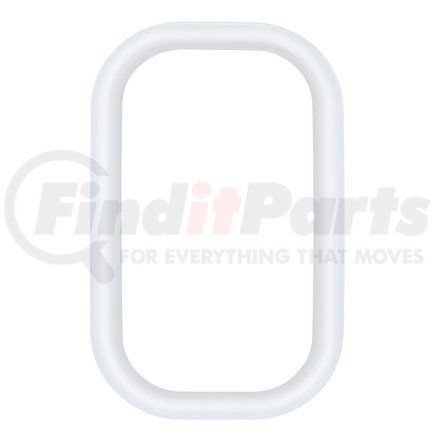 40946B by UNITED PACIFIC - CHROME PLASTIC FREIGHTLINER EXTERIOR VIEW WINDOW COVER NO ADHESIVE
