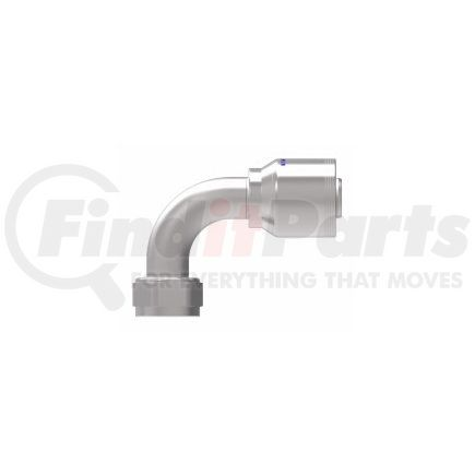 4SA20FJB20 by EATON CORPORATION - Fitting - Hose Fitting (Permanent), 4-Spiral, SAE 37, Steel 90 Degree Core A