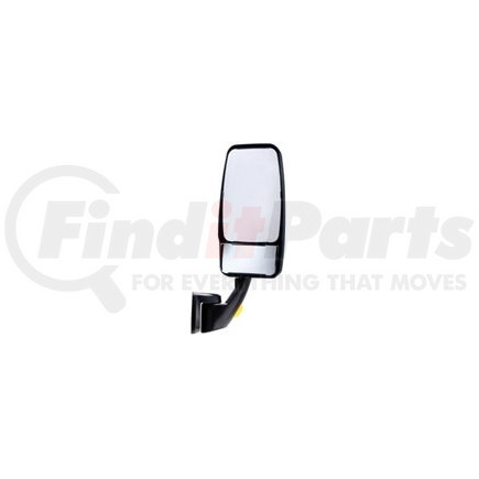 715266 by VELVAC - Passenger Side - Black, VMax Mirror Head with Heated/Remote Controlled Flat Glass and Heated/Manual Convex Glass, Revolution/Fold-A-Way Flat Base with Turn Signal