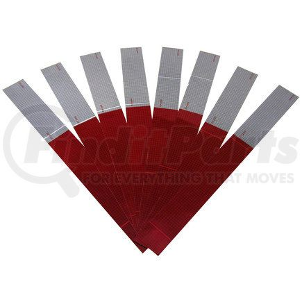 """465K by PETERSON LIGHTING - 463/464/465/467/468 Reflective Marking Tape - 2"""" Red/White-8 Strip Kit"""