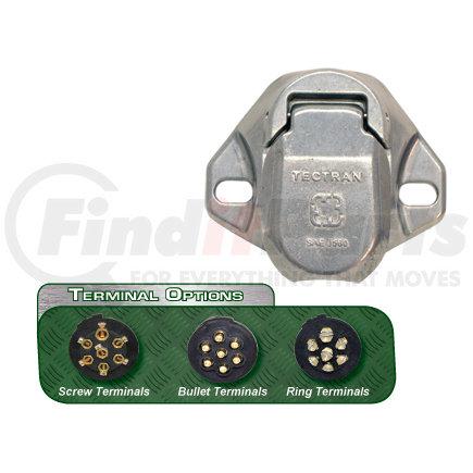 670-74A by TECTRAN - 7-Way Socket, Solid Pin (Stock Code: 38288) (Representative Image)