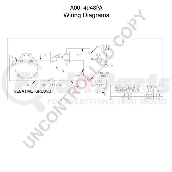 A0014948pa By Leece Neville High Output Alternator