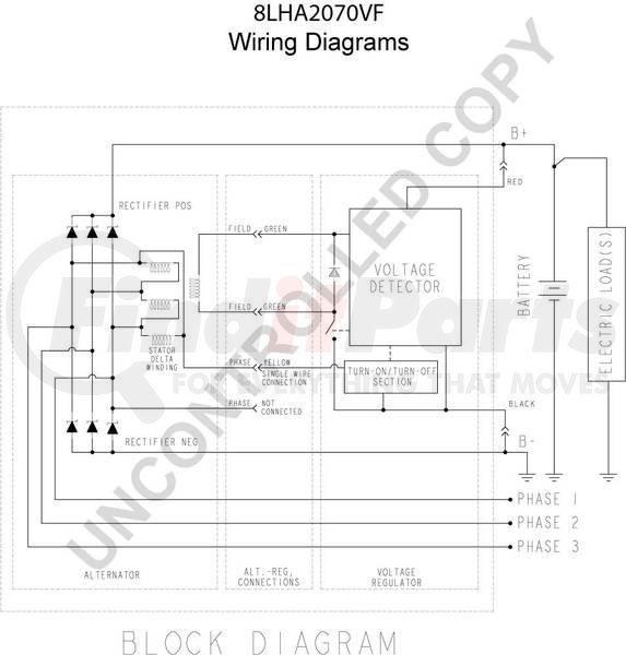 vermeer alternator wiring diagram 8lha2070vf by leece neville high output alternator  leece neville high output alternator