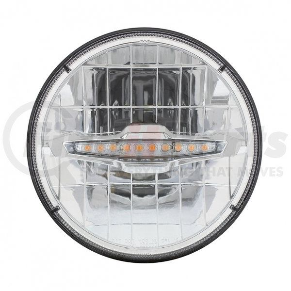 United Pacific S2010LED 7 Crystal Headlight With 10 Amber Led