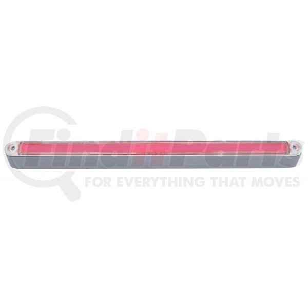 Glow Light United Pacific 32709 24 LED 12 Inch Light Bar with Chrome Housing Red LED//Clear Lens