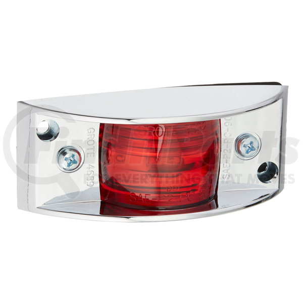 Grote 46893 Yellow Chrome-Armored Clearance Marker Light