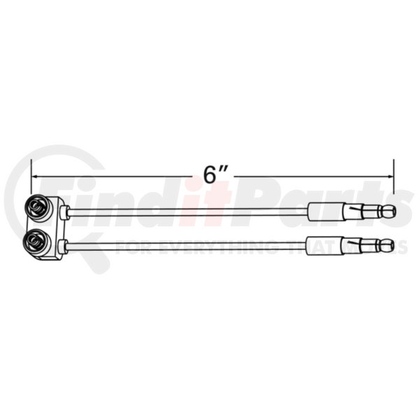 Grote 66840 Sealed Marker Light Pigtail Single Seal