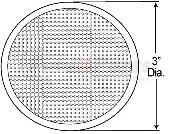 Grote 40052-5 Red Round Stick-On Reflector